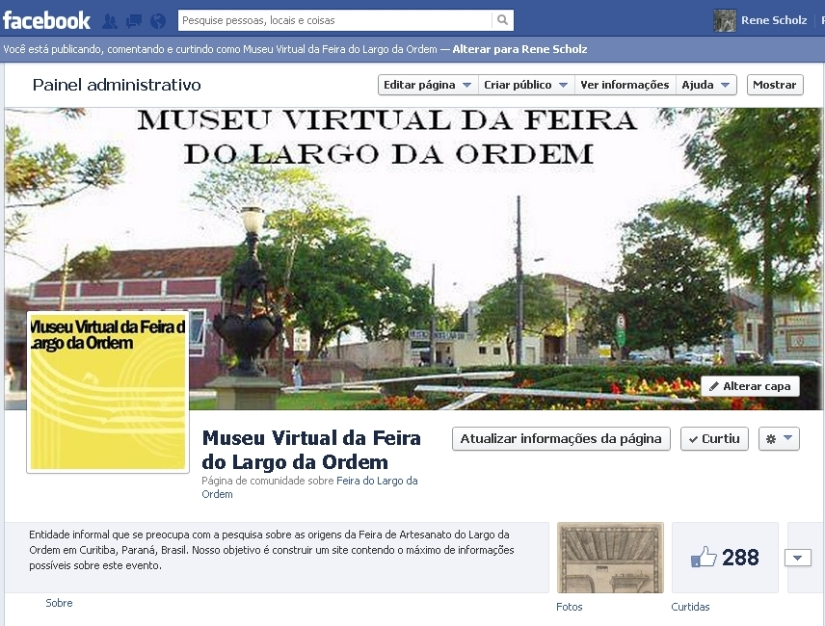 Museu da Feira no Facebook