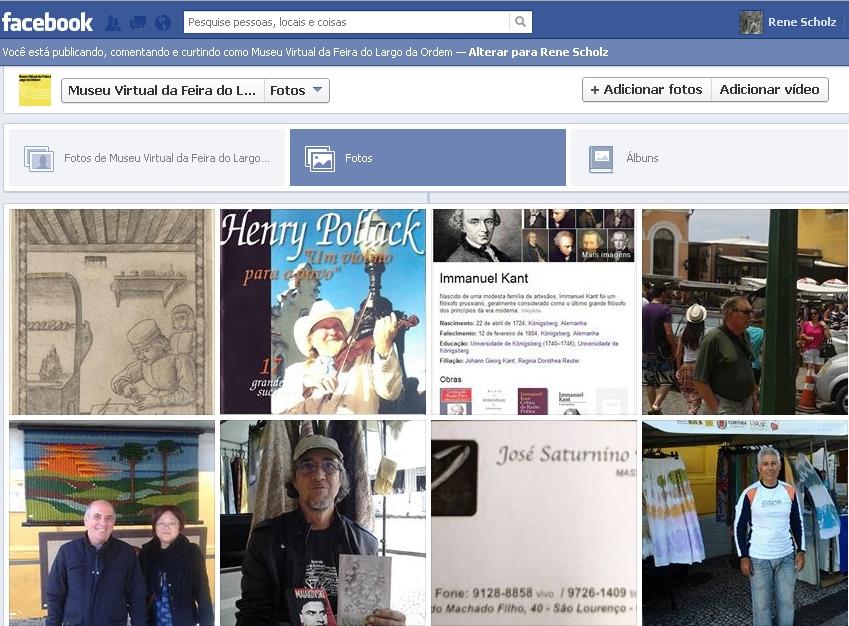 Coleção de fotos no Facebook